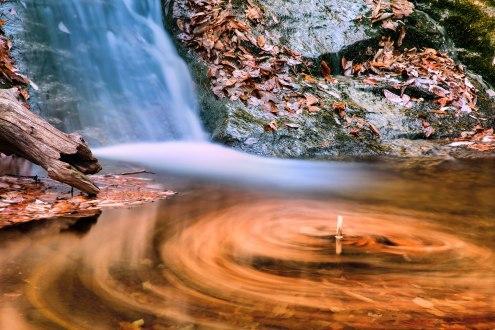 Crabtree Falls. Fall color photograph, ©Dan Whittaker, 2014