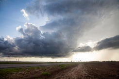 Tornado warned storm in Roscoe, Texas, May 5, 2015.