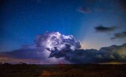 5/5/15 Texas storm, stars and lunar rays