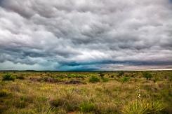Oklahoma mammatus clouds and blue hail core 5/7/15