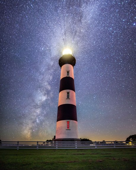 Bodie Island Lighthouse and Milky Way