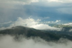 Grandfather Mountain in the clouds