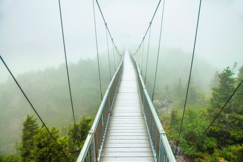 Grandfather Mountain mile high swinging bridge, NC