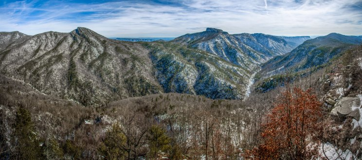 Snowy ridges of Linville Gorge, NC. The area reported 12 inches of snow... amazing to see! 1/25/16