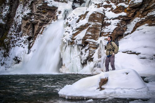 Winter at Linville Falls, NC. 1/25/16