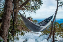 At the top of the mountain, Blue Ridge Mountains, NC. Swinging in my Yukon Outfitters hammock.