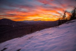 Blue Ridge Mountain sunset. 1/25/16
