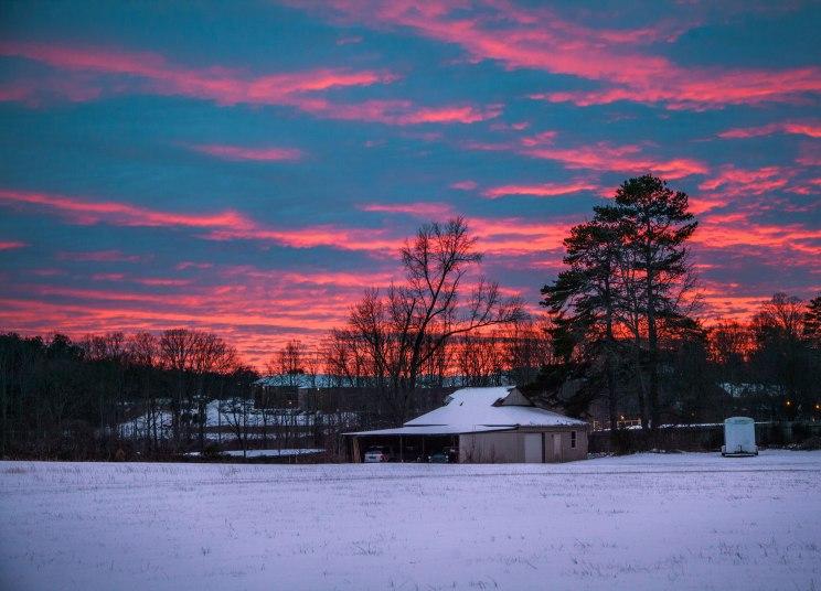 Winter sunset in Greensboro, NC. 2016