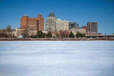 Greensboro skyline during winter. 2016.
