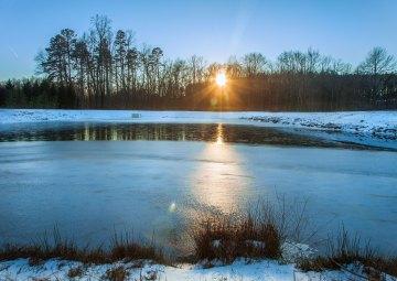 Winter sunset in Greensboro, NC. 2016.