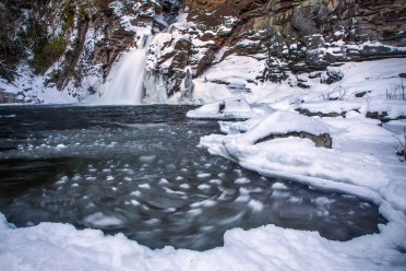 Ice swirls at Linville Falls, NC. 1/25/16