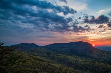 Sunset at Hanging Rock, in NC. From mid Spring 2016.