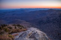 Sunset at the Devil's Courthouse in NC, early Spring 2016.