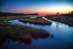 Evening colors and water pathways at the Croatan National Forest from early May 2016. The Croatan National Forest is an amazing piece of preserved land, located close to Atlantic Beach. The salt marshes are alive with wildlife, and paths with long boardwalks make for a unique experience. The trails yesterday led me past crab colonies, oyster beds, waterfowl, and a large Eastern Glass Lizard. To fully appreciate the beauty of NC, a visit to one of these inner coastal land preserves is a must.