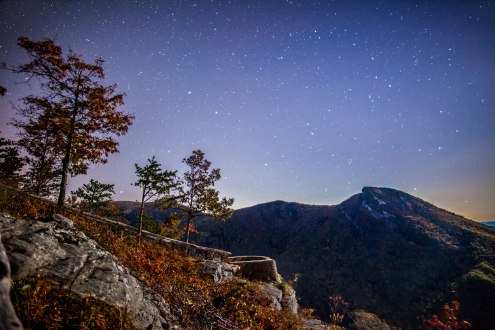 Wiseman's view on a cool fall night, captured mid-October 2016 in Linville Gorge NC