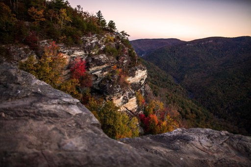 Early morning along the cliffs of Linville Gorge, mid-October 2016