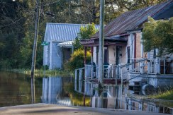 Flooding in southern Kinston on October 15, 2016, result from Hurricane Matthew.