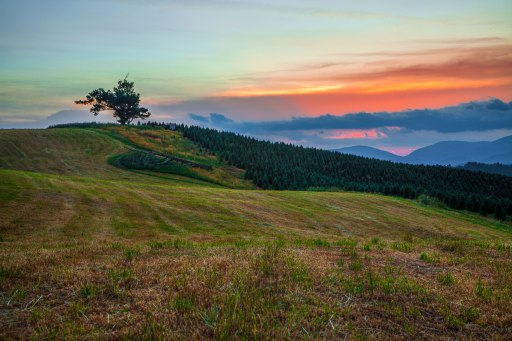 A vibrant sunset along the Blue Ridge Parkway, near Boone, NC. 2016