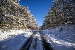 Snowy road near Hanging rock on 1/7/17.