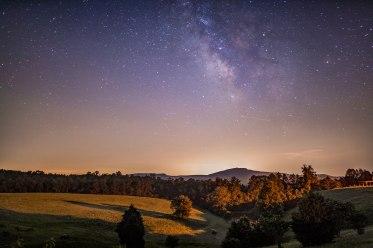 hanging rock, Milky Way, nc, North Carolina