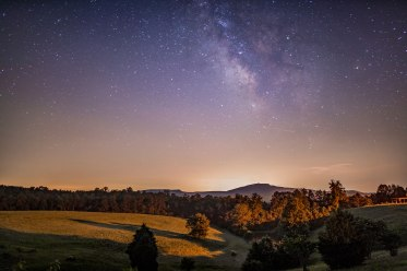hanging rock, Milky Way, nc, North Carolina