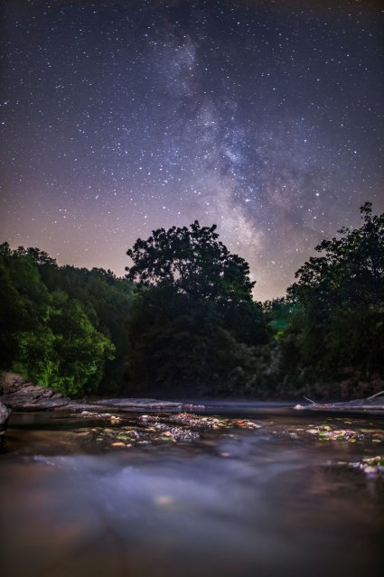 Milky Way, dan river, nc, night