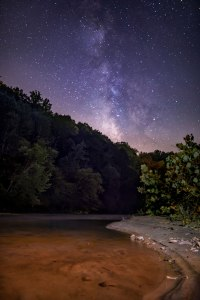 dan river, Milky Way, nc, night