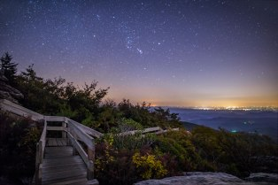 ruff ridge, night, fall, nc, blueridgemountains