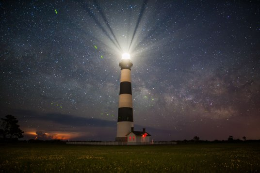 Bodie, island, lighthouse, storm, night, nc, North Carolina