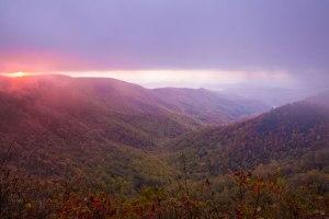 doughton park, sunrise, North Carolina