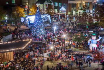 Greensboro, festival of lights, nc, december