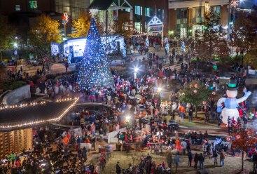 Greensboro, festival of lights, nc, december