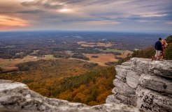 pilot mountain, nc, engagement, autumn