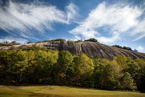 Stone Mountain, autumn, clouds, north carolina