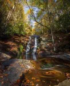 Stone Mountain, autumn, waterfall, north carolina