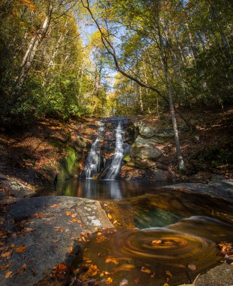 Stone Mountain, autumn, waterfall, north carolina