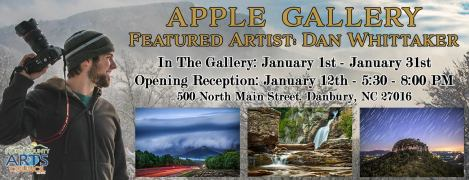 apple gallery, stokes county arts council, danbury, the arts place, North Carolina, art, photography, gallery