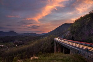 sunset, big stone gap, virginia
