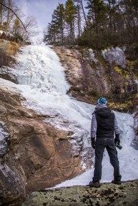 big crabtree creek, little Switzerland, waterfall, ice