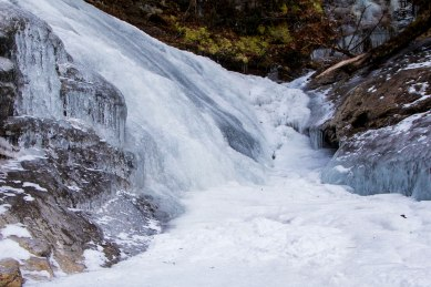 frozen, waterfall, north carolina, big crabtree creek