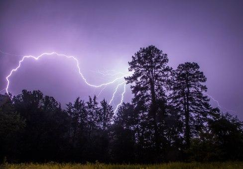 lightning, Greensboro, nc, night, storm