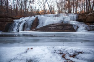 frozen, waterfall, north carolina, falls creek falls, mayo river state park