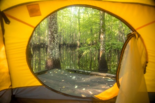 camping, kayak, paddling, platform, North Carolina