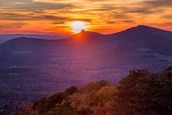 autumn; fall; pilot mountain; hanging rock state park; North Carolina