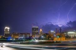 Lightning above Winston Salem, North Carolina. August 2018