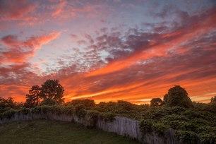 Vibrant sunset above a hill I Greensboro, North Carolina