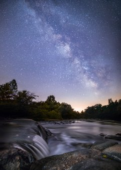 Milky Way and rushing water along the Mayo River in North Carolina. The low humidity caused the stars this night to really shine!