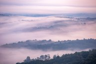 Fog along the Blue Ridge Mountains, captured from the Blue Ridge Parkway near Boone, NC