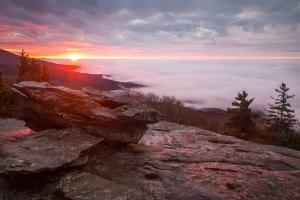 beacon heights, blue ridge parkway, cloud inversion, North Carolina