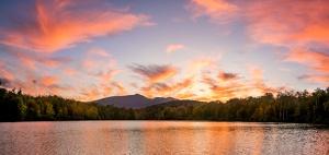 sunset, price lake